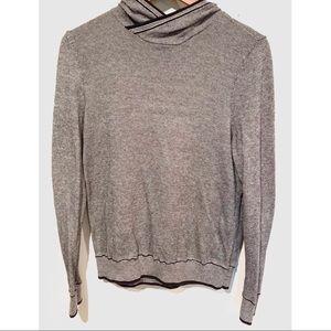 Express hooded sweater knit sweatshirt